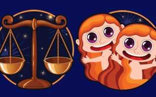 Совместимость между Близнецами и Весами