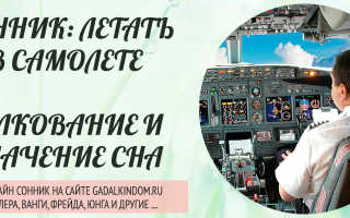 К чему снится лететь на самолете?
