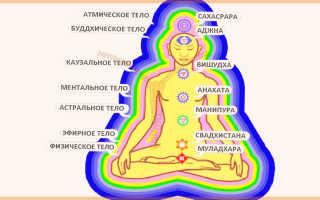 Расположение чакр на теле человека и их значение